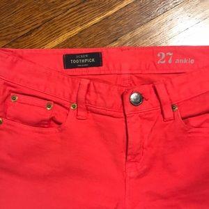 J. Crew Jeans - J Crew Toothpick Jeans. Size 27.